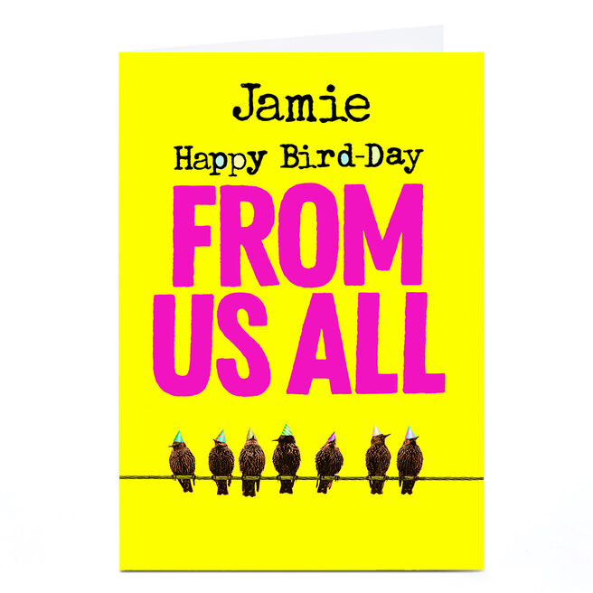 Personalised PG Quips Card - From Us All