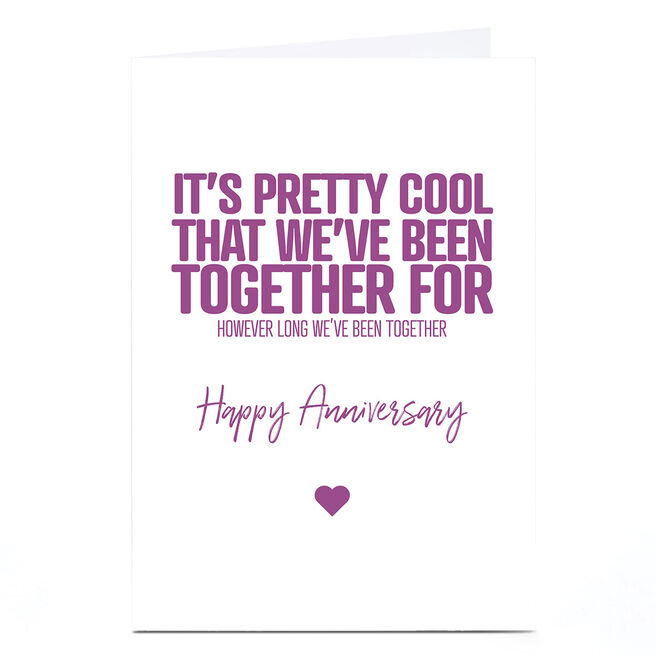 Personalised Punk Cards Anniversary Card - Together