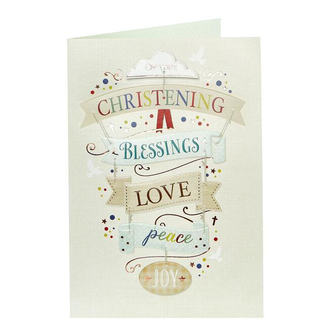 Christening Card - Blessings & Love