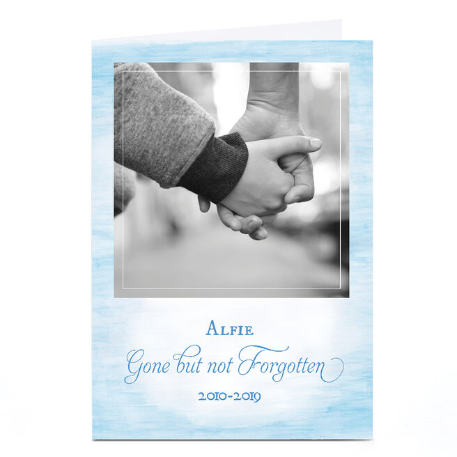 Personalised Sympathy Photo Card - Gone, But Not Forgotten
