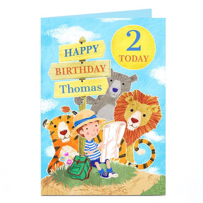 Personalised Card - Animal Birthday