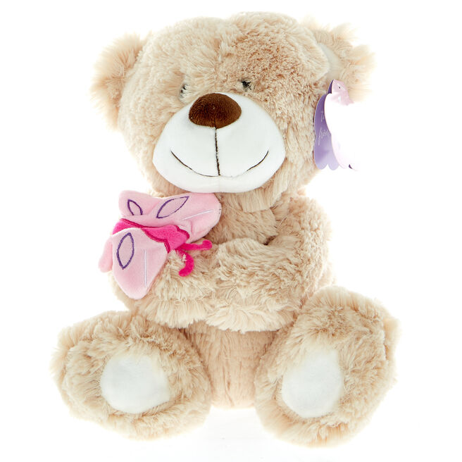Bear With Butterfly Soft Toy
