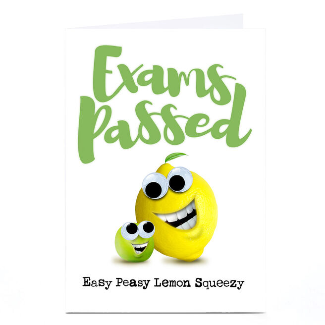 Personalised PG Quips Card - Exams Passed!