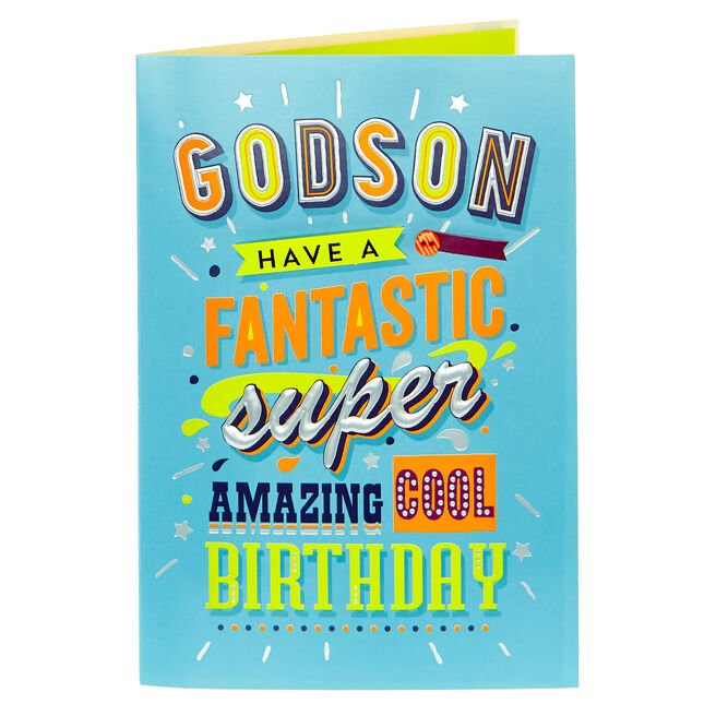 Birthday Card - Godson Fantastic Super Amazing