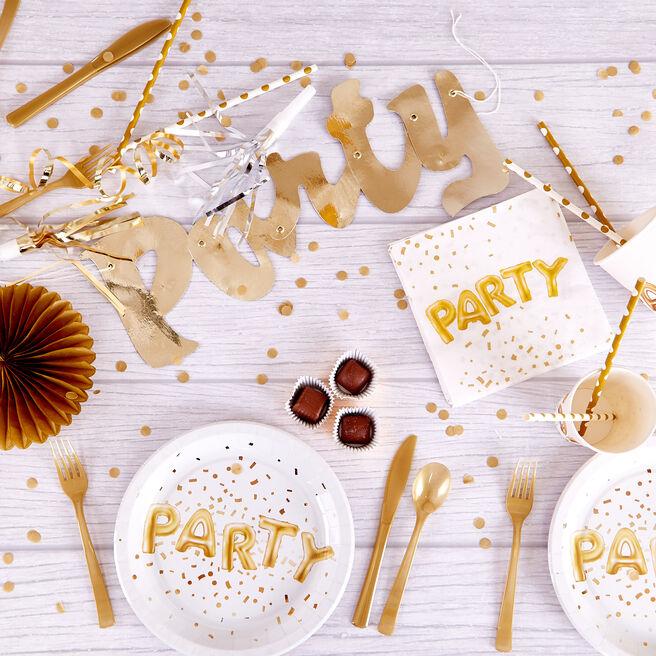 White & Gold-Themed Birthday Party Range