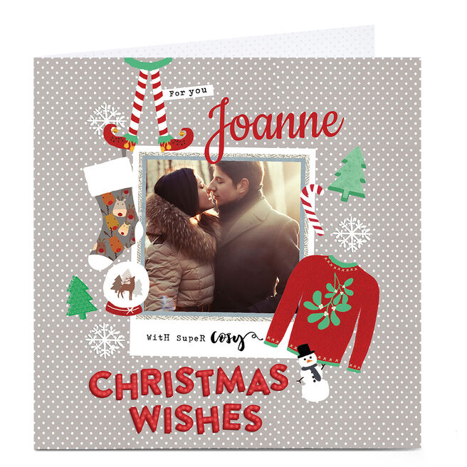 Photo Upload Christmas Card - Cosy Christmas