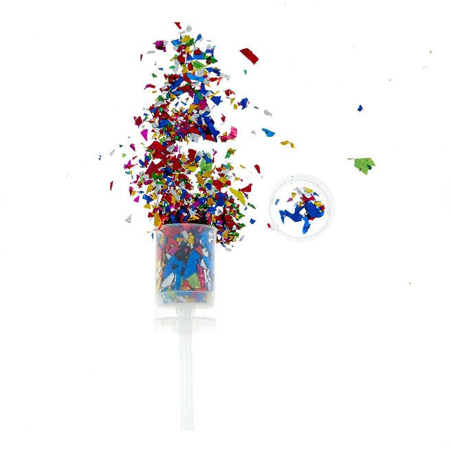Foil Confetti Push Popper - Multicolored