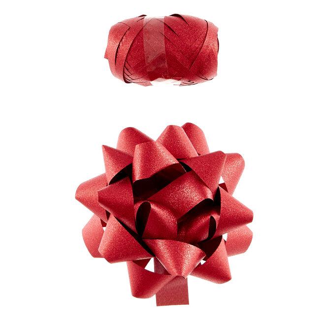 Red Glitter Bow & Ribbon