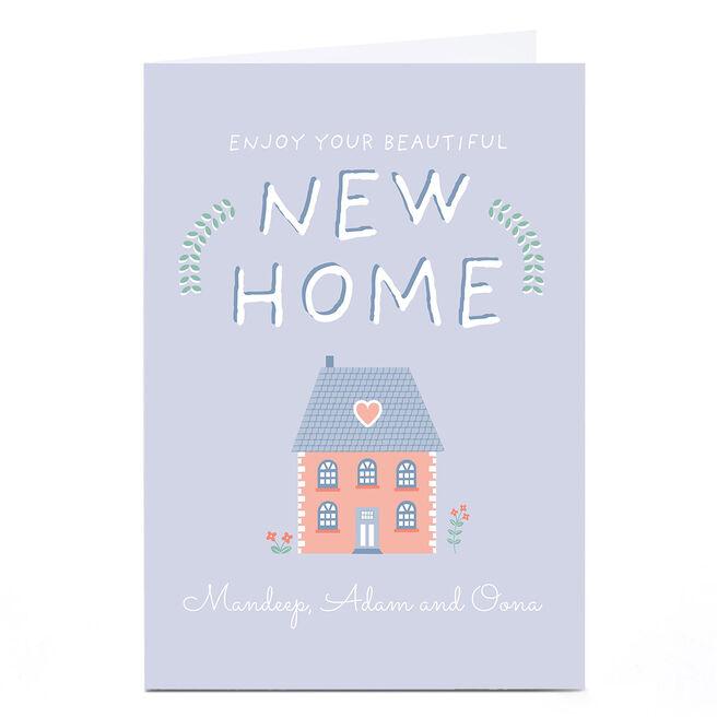Personalised Juniper & Rose Studio New Home Card - Enjoy