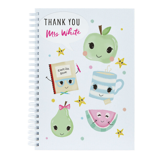Personalised Thank You Teacher Notebook - Fruit And Tea