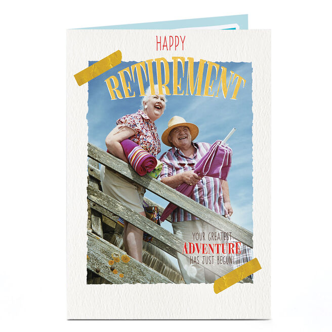 Photo Retirement Card - Your Greatest Adventure...
