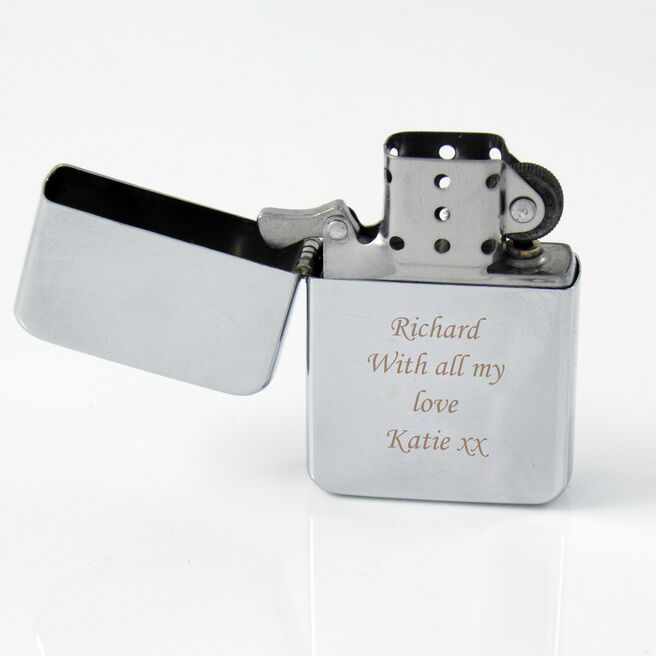 Personalised Silver Lighter - Any Message