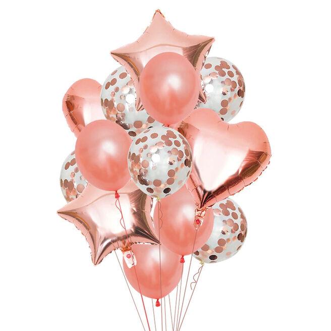 Rose Gold Hearts & Starts Balloon Display Kit