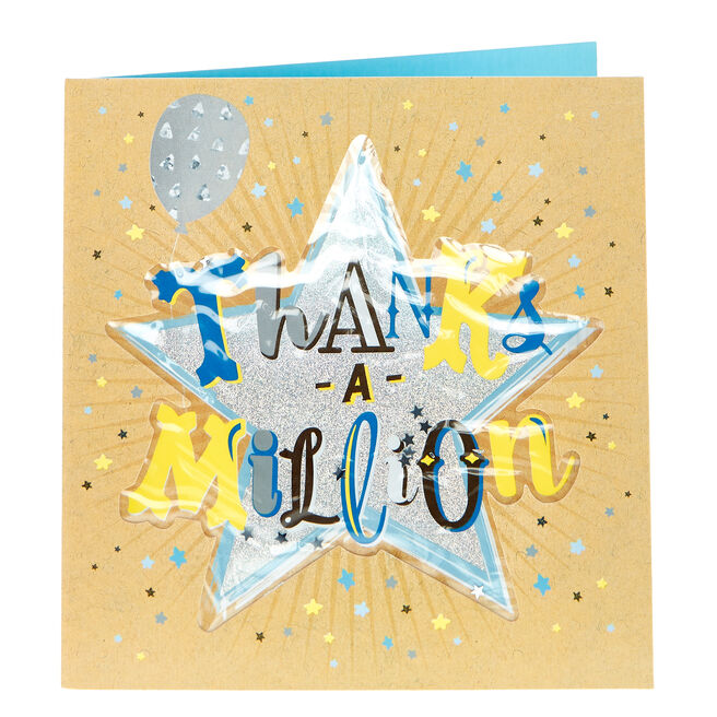Boutique Collection Thank You Card - Thanks A Million