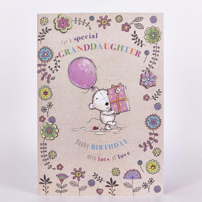 Birthday Card - Granddaughter, Lovely Day