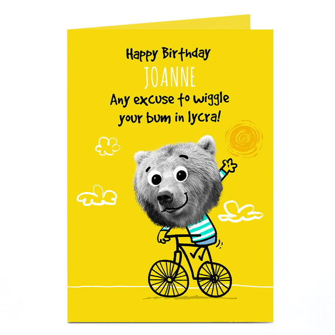 Personalised Pink Pet Shop Birthday Card - Wiggle Your Bum
