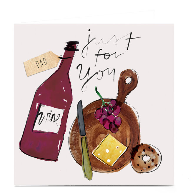 Personalised Emma Valenghi Card - Wine & Cheese