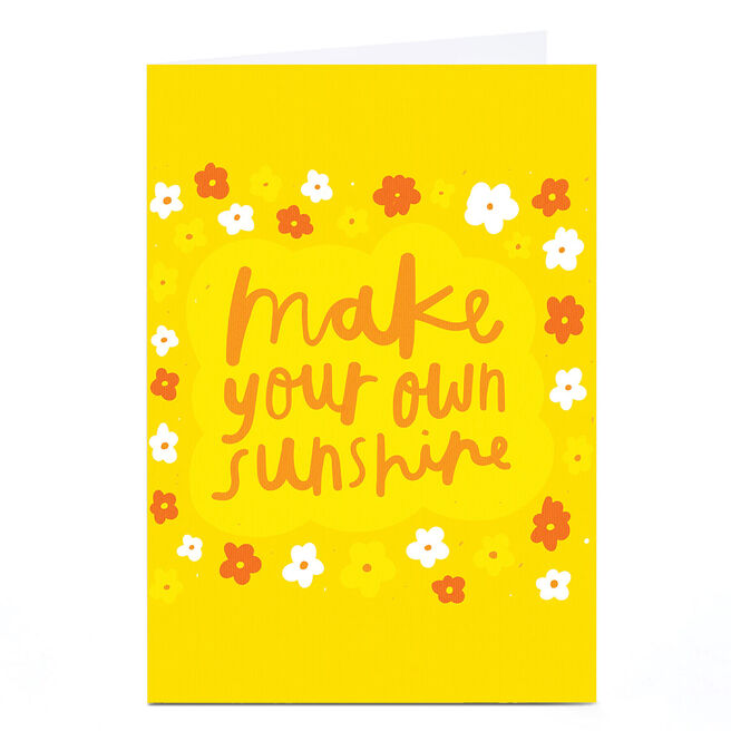 Personalised Whale & Bird Card - Make Your Own Sunshine