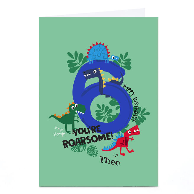 Personalised Rachel Griffin Birthday Card - 6, You're Roarsome!
