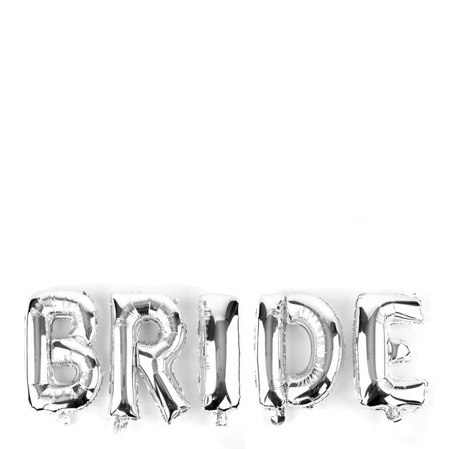 Silver Bride Balloon Banner Kit