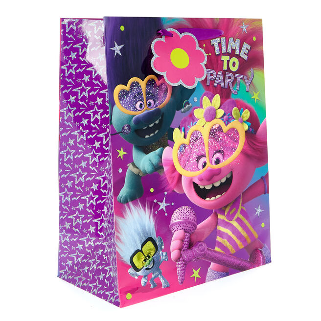 Medium Portrait Trolls Time To Party Gift Bag