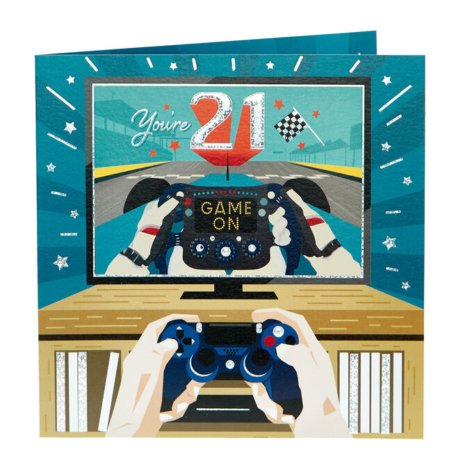 21st Birthday Card - Game On