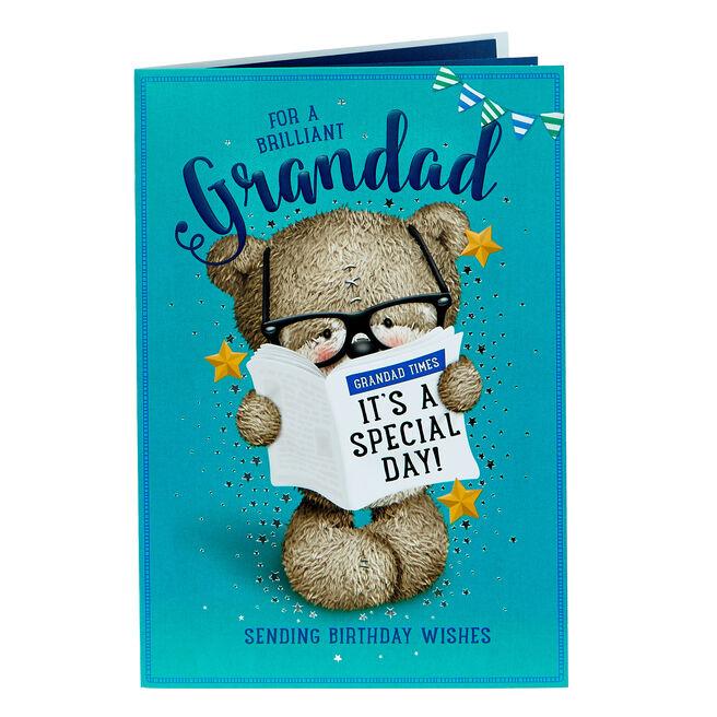 Hugs Bear Birthday Card - Brilliant Grandad
