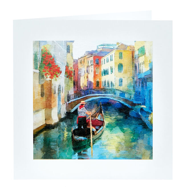 Any Occasion Card - Gondola Painting