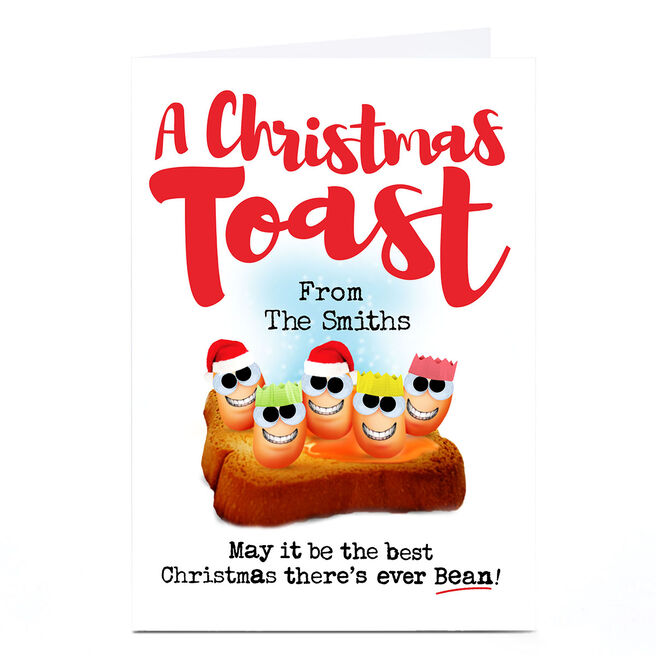 Personalised PG Quips Christmas Card - A Christmas Toast