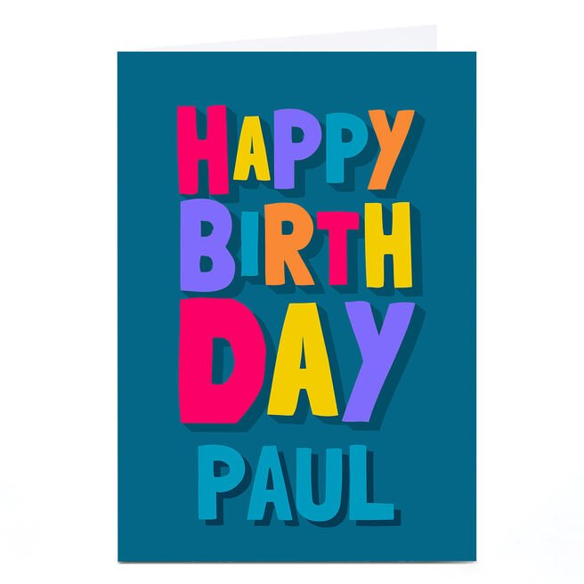 Personalised Birthday Card - Colourful Letters