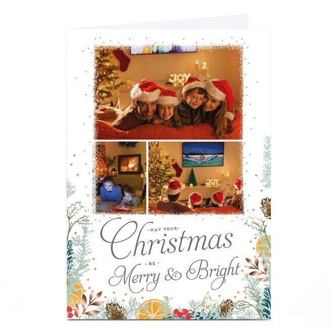 Photo Christmas Card - Merry & Bright