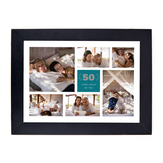 Personalised 50th Birthday Photo Print - Looks Great On You (Landscape)