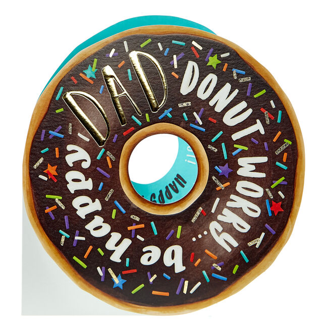 Father's Day Card - Dad Donut Worry Be Happy