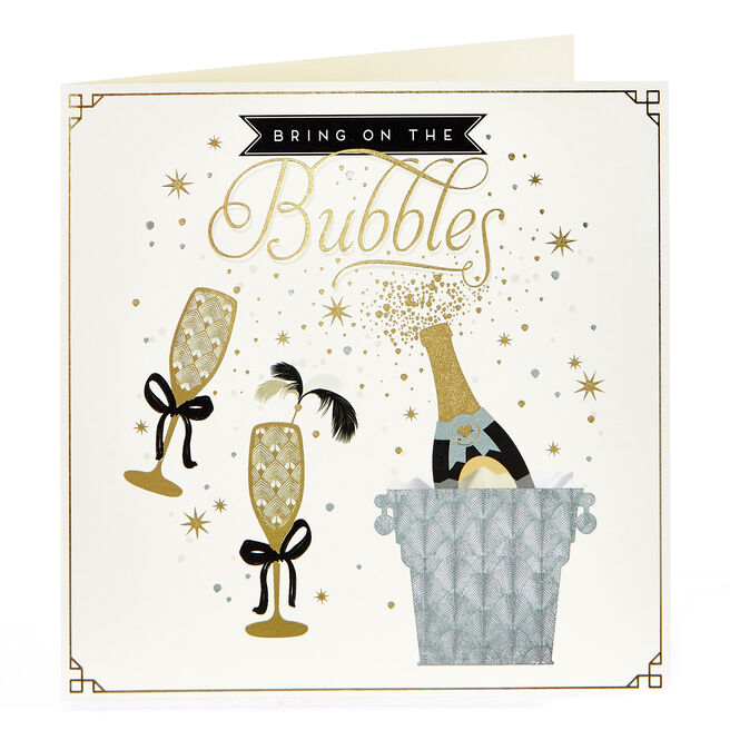 Blank Card - Bring On The Bubbles