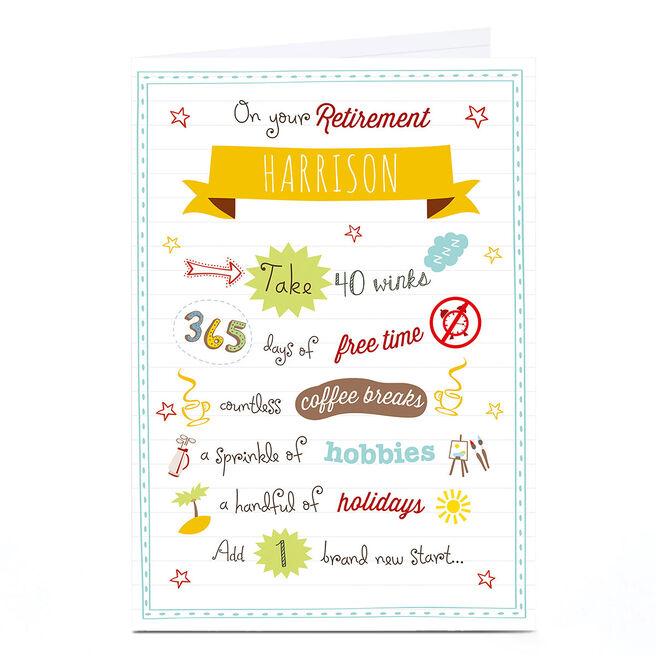 Personalised Retirement Card - Brand New Start