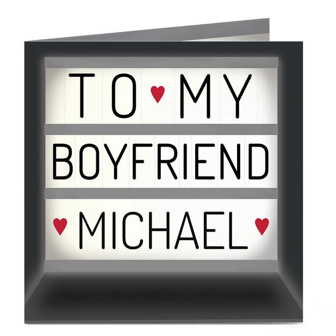 Personalised Card - Boyfriend Light Box