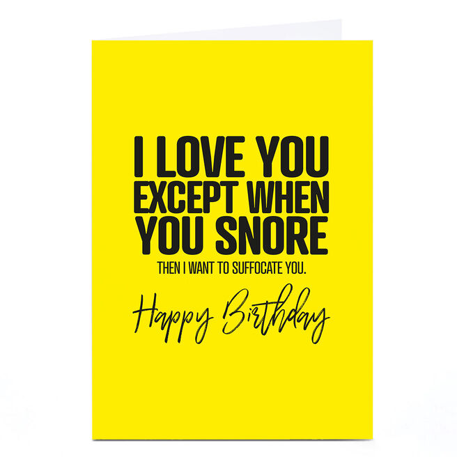 Personalised Punk Birthday Card - I Love You Except...