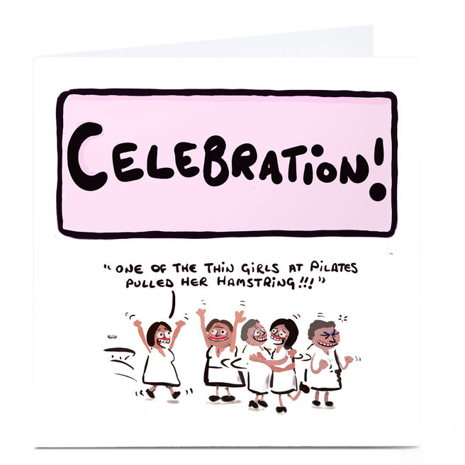 Personalised Do Something David Birthday Card - Pilates Celebration