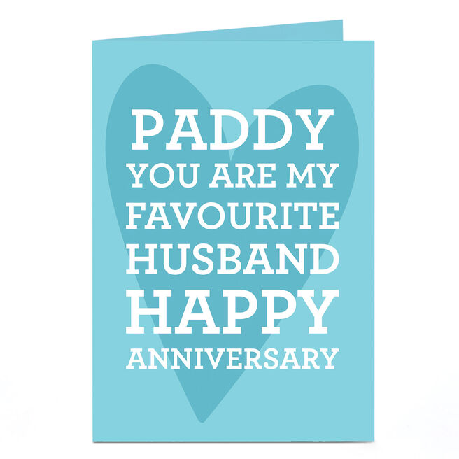 Personalised Anniversary Card - Favourite Husband