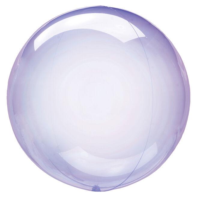 12-Inch Clear Purple Orb-Shaped Helium Balloon