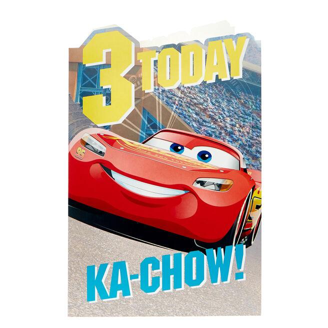 Cars 3rd Birthday Card