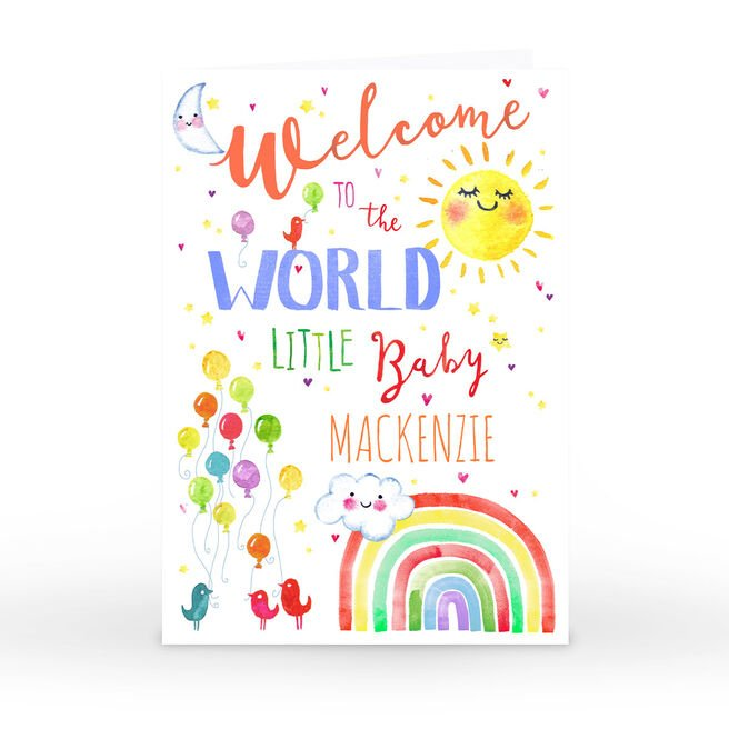 Personalised Nik Golesworthy Card - Welcome To The World