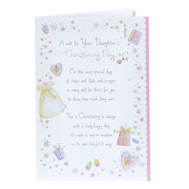 Christening Card - For Your Daughter