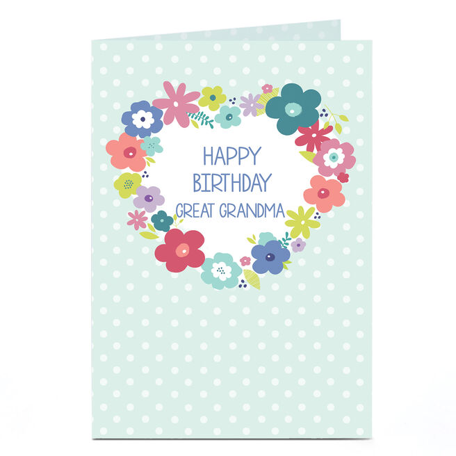 Personalised Birthday Card - Flower Wreath [any recipient]