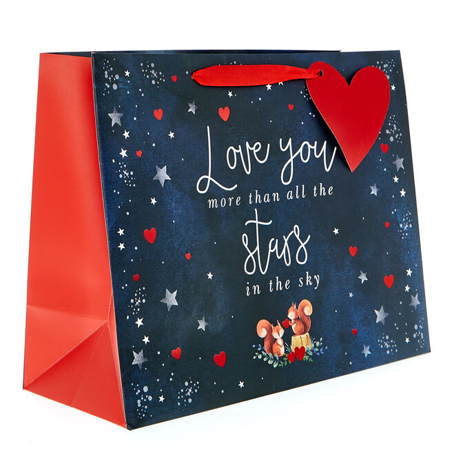 Medium Landscape Valentine's Day Gift Bag - Love You More