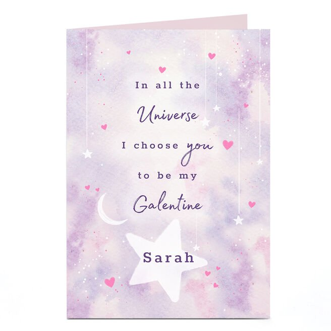 Personalised Valentine's Day Card - To Be My Galentine