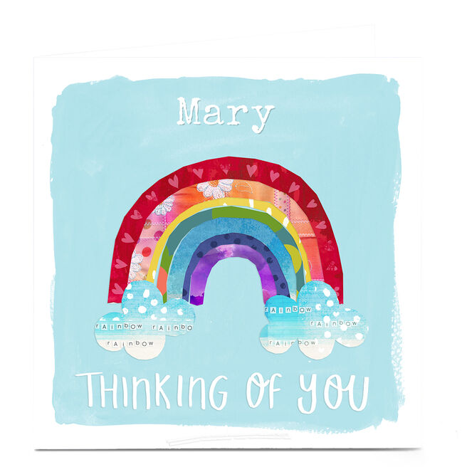 Personalised Kerry Spurling Thinking Of You Card - Rainbow