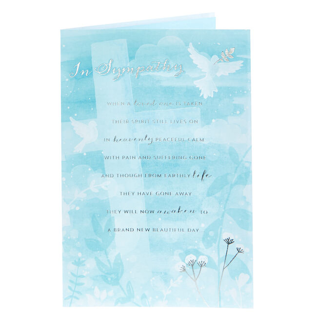 Sympathy Card - Heavenly Peaceful Calm
