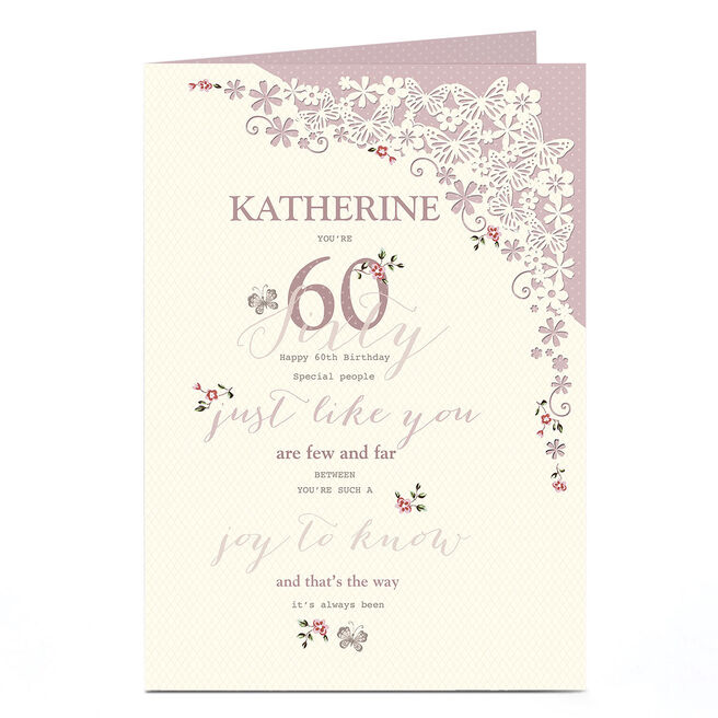Personalised 60th Birthday Card - A Joy To Know