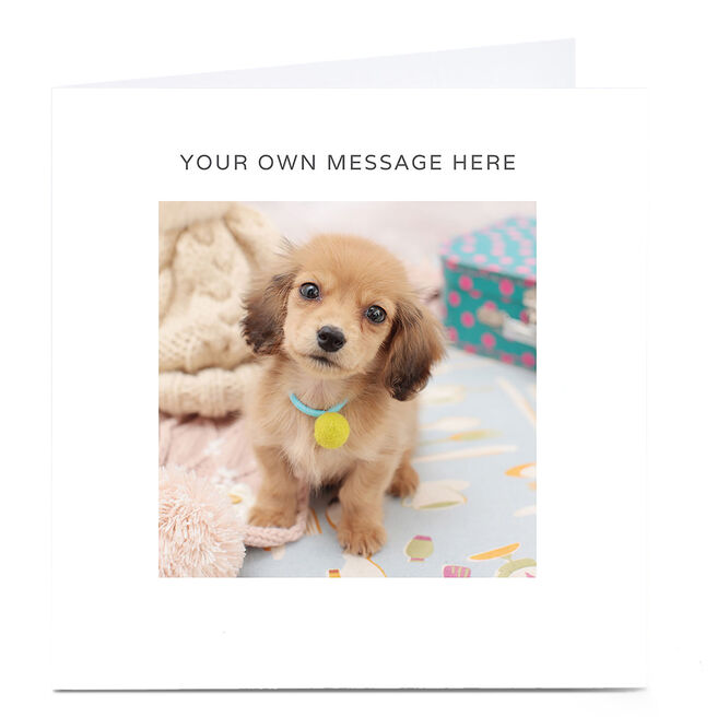 Personalised Card - Puppy